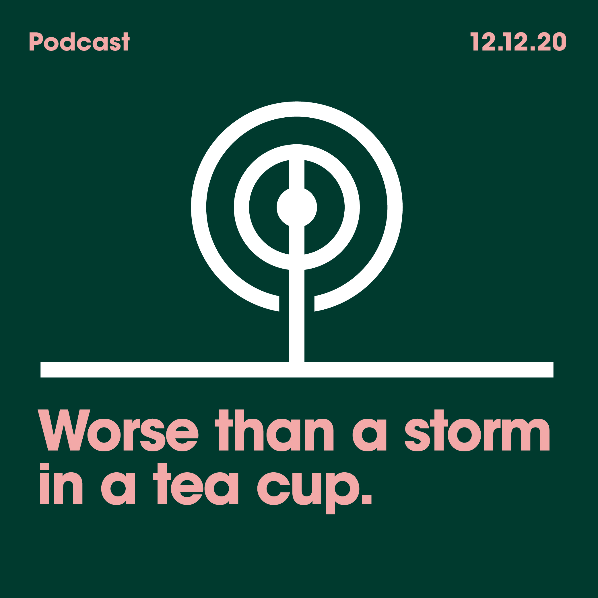 12.12.2020 Worse than Storm in a Tea Cup.